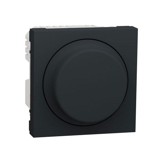 Універсальний поворотно-натискний димер для LED ламп, Unica New антрацит
