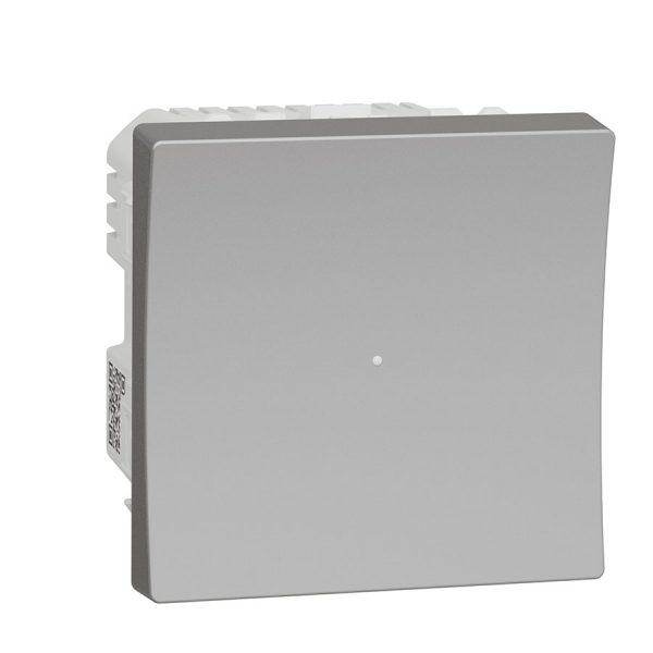 Wiser Універсальний кнопковий димер для LED ламп, Unica New алюміній