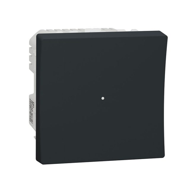 Wiser Універсальний кнопковий димер для LED ламп, Unica New антрацит