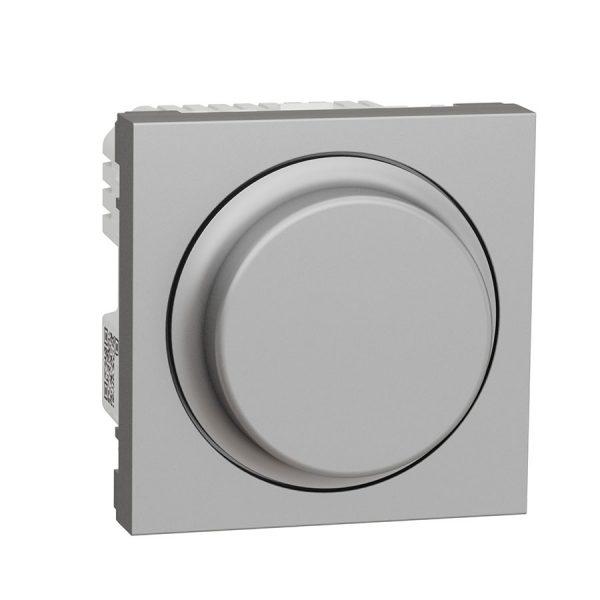 Wiser універсальний поворотно-натискний димер для LED ламп, Unica New алюміній