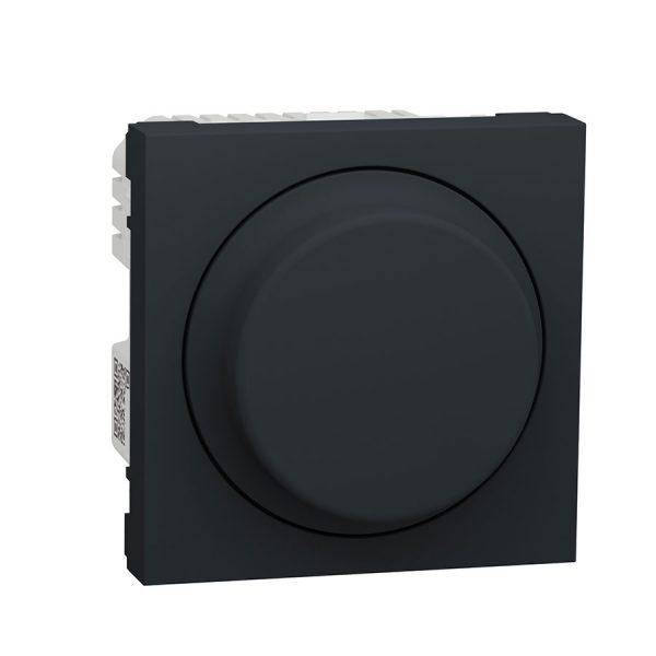Wiser універсальний поворотно-натискний димер для LED ламп, Unica New антрацит