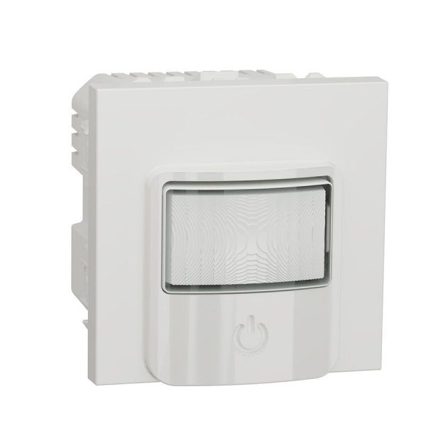 Датчик руху з вимикачем 10 A, Unica New білий