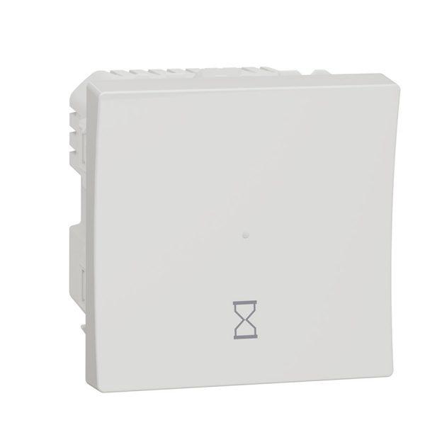 Таймер зворотного відліку натискний 10 A, Unica New білий