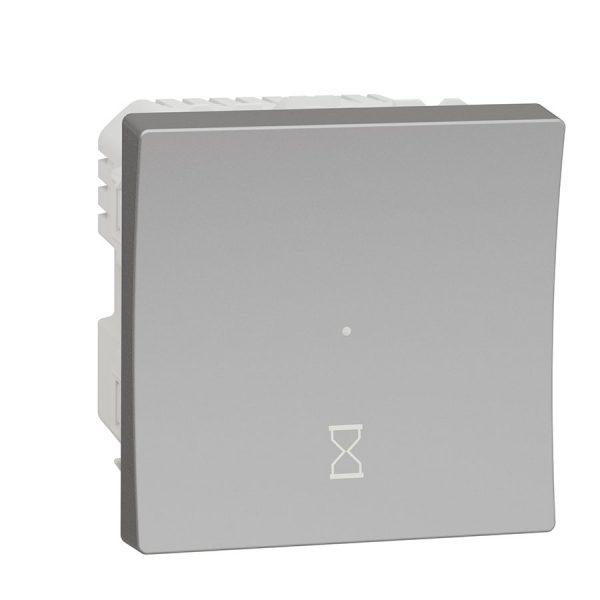 Таймер зворотного відліку натискний 10 A, Unica New алюміній