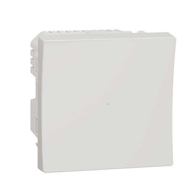 Wiser pелейний вимикач натискний 10 A Unica New білий