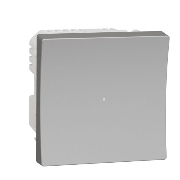 Wiser pелейний вимикач натискний 10 A Unica New алюміній