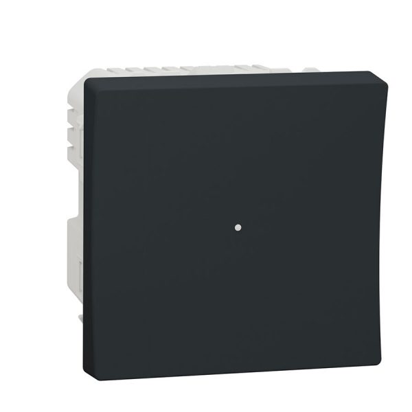 Wiser pелейний вимикач натискний 10 A Unica New антрацит