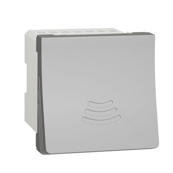 Дзвінок електронний 70 дБ 2 модуля Unica New алюміній