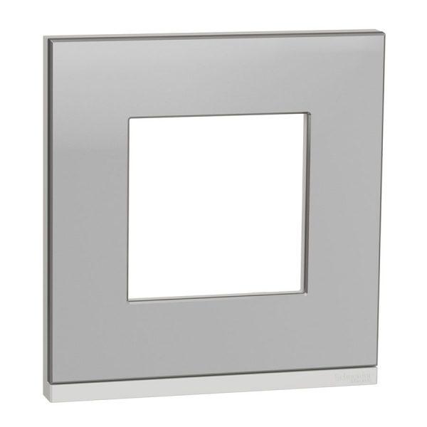 Рамка Unica Pure 1-на алюміній матовий/біла
