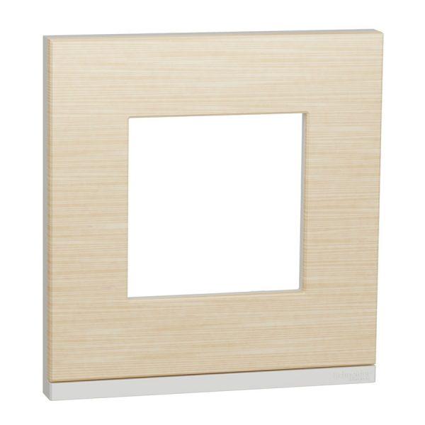 Рамка Unica Pure 1-на клен/біла