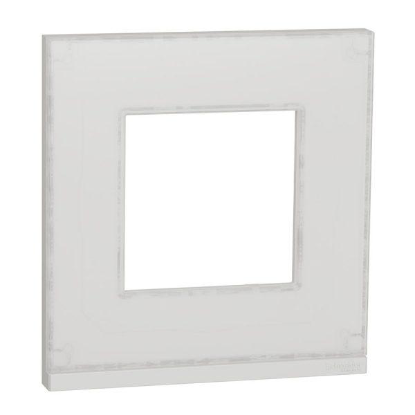 Рамка Unica Pure 1-на біле скло/біла