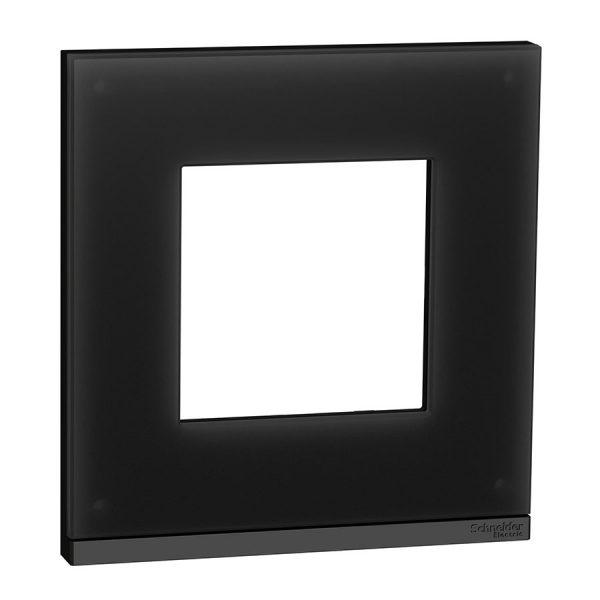 Рамка Unica Pure 1-на чорне скло/антрацит
