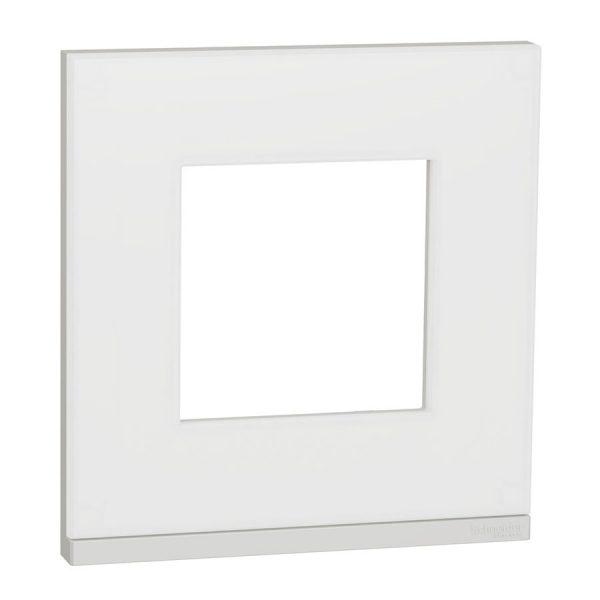 Рамка 1-на постова гориз. мат.скло/біл. Unica NEW