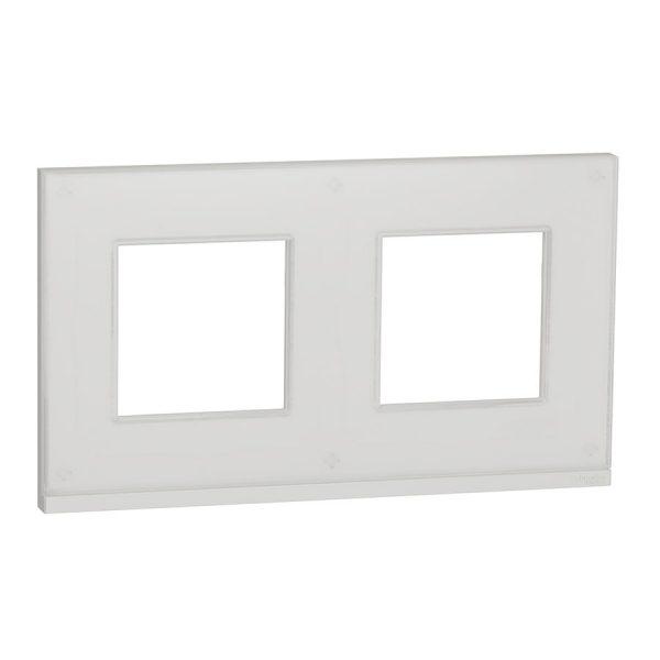 Рамка Unica Pure 2-на біле скло/біла