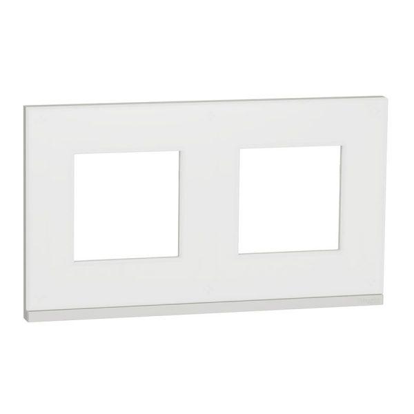 Рамка 2-на постова мат.скло/біл. Unica NEW