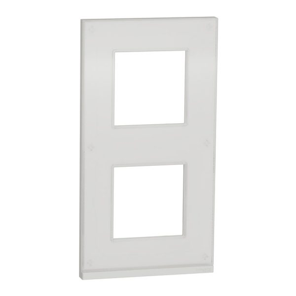 Рамка вертикальна Unica Pure 2-на біле скло/біла
