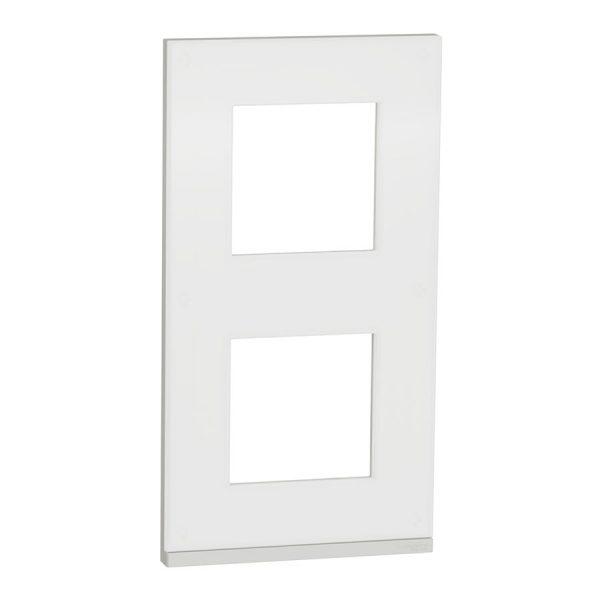 Рамка вертикальна Unica Pure 2-на матове скло/біла