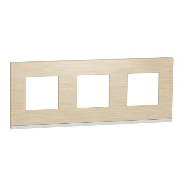 Рамка Unica Pure 3-на клен/біла