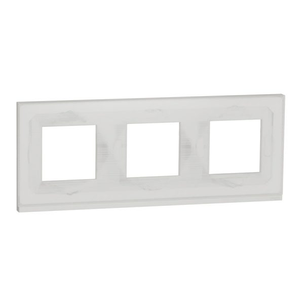 Рамка Unica Pure 3-на біле скло/біла