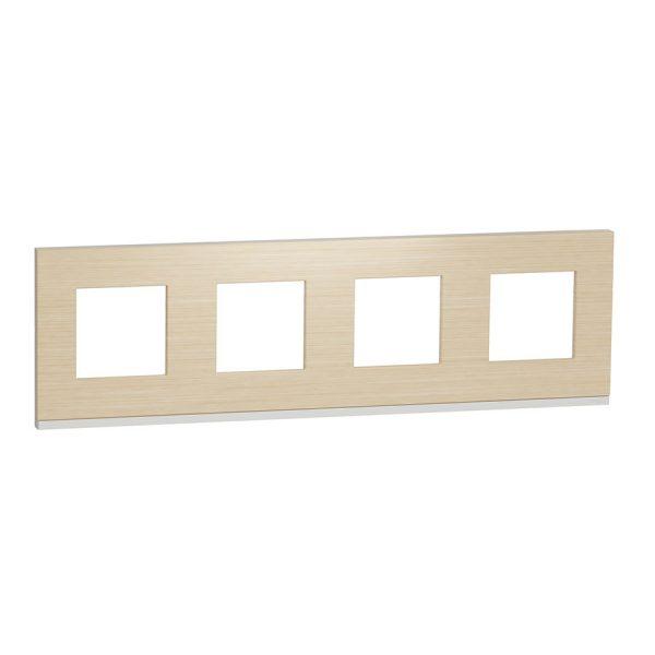 Рамка Unica Pure 4-на клен/біла