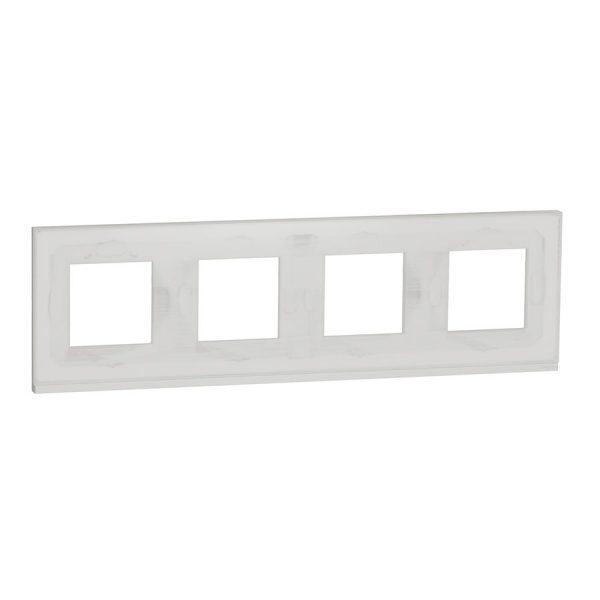 Рамка Unica Pure 4-на біле скло/біла