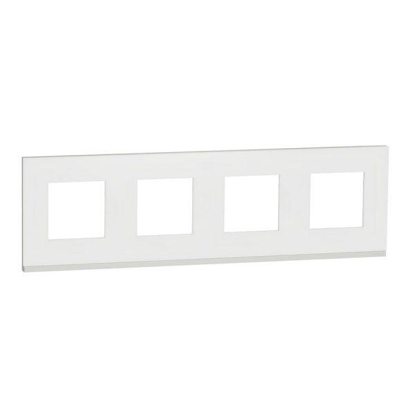 Рамка 4-на постова мат.скло/біл. Unica NEW