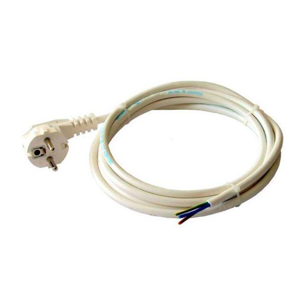 Провід з вилкою ПВС 3х1,5 (Одескабель) 1,7м з/з 220В 16А IP20 білий
