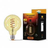 LED лампа Filament G125FASD 5W E27 2200K 220V димерна
