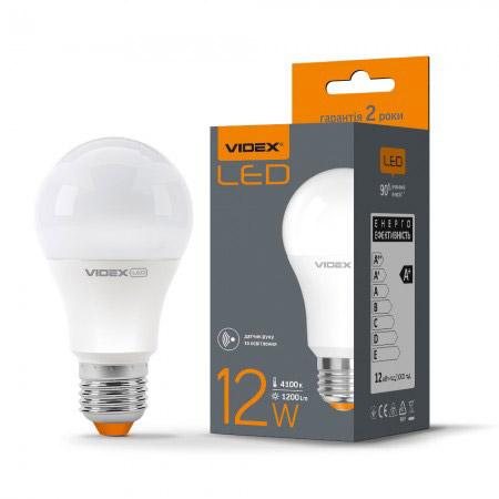 LED лампа A60E 12W E27 4100K 220V з датч.руху VL-A60e-12274-S