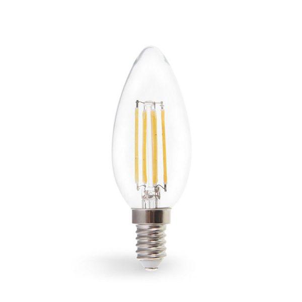 Лампа LED-нитка C37 7Вт 700LM Е14 230V 4000K LB-160