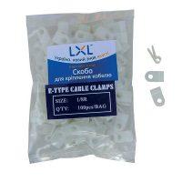 LXL Cкоба для кріплення кабелю  3.2мм. (100шт.)
