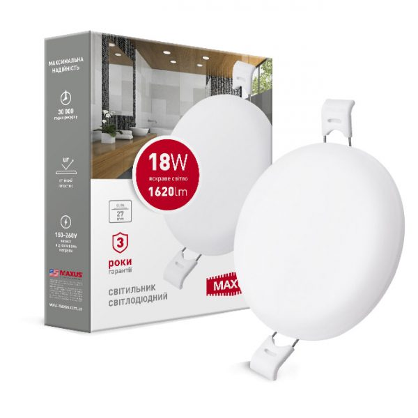 Світильник LED круг SP edge 18W, 4100К