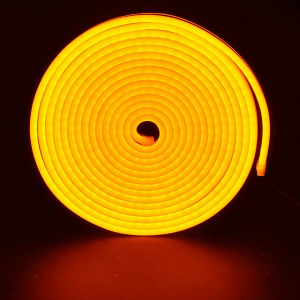 Led NEON жовтий 120Y2835-12V-6W/m 8*16mm IP65(неолед)