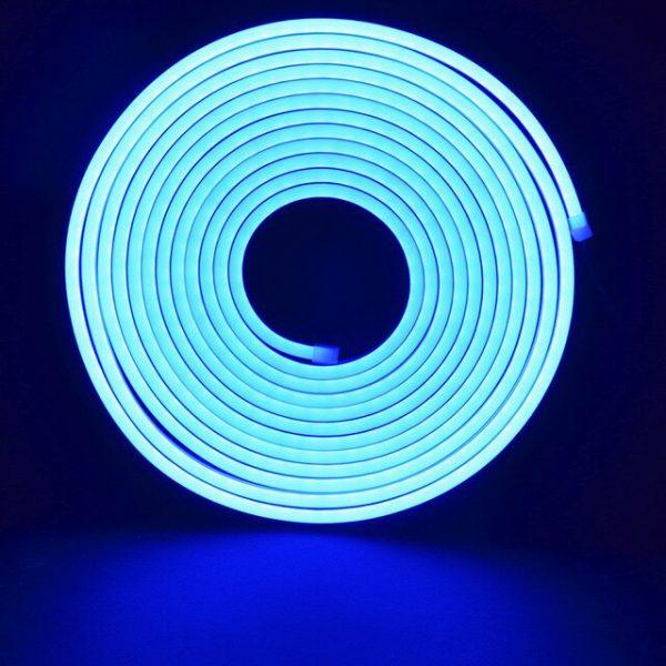 Led NEON блакитний 120IB2835-220V-12Wm 8*16mm IP65(неолед)