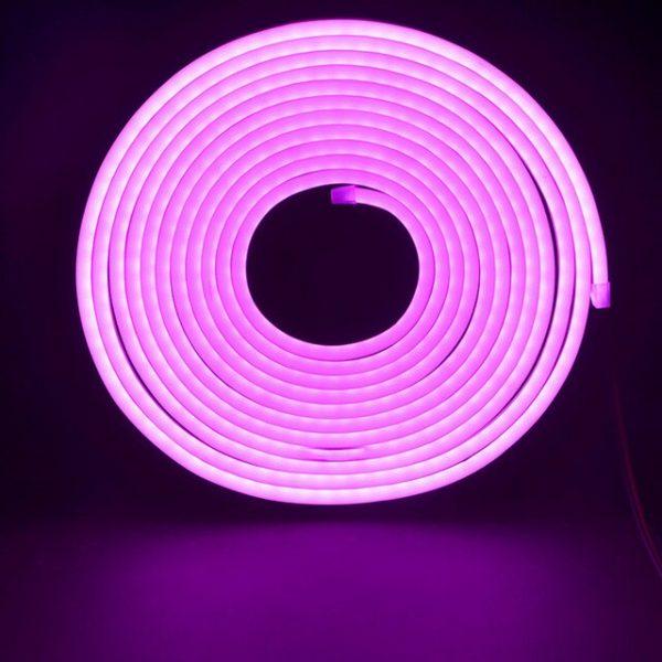 Led NEON рожевий 120P2835-220V-12Wm 8*16mm IP65(неолед)