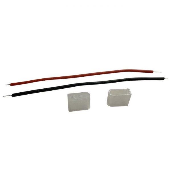Монтажний комплект (2заглушки+2кабеля)для св.діодн.неону 6mm 12V