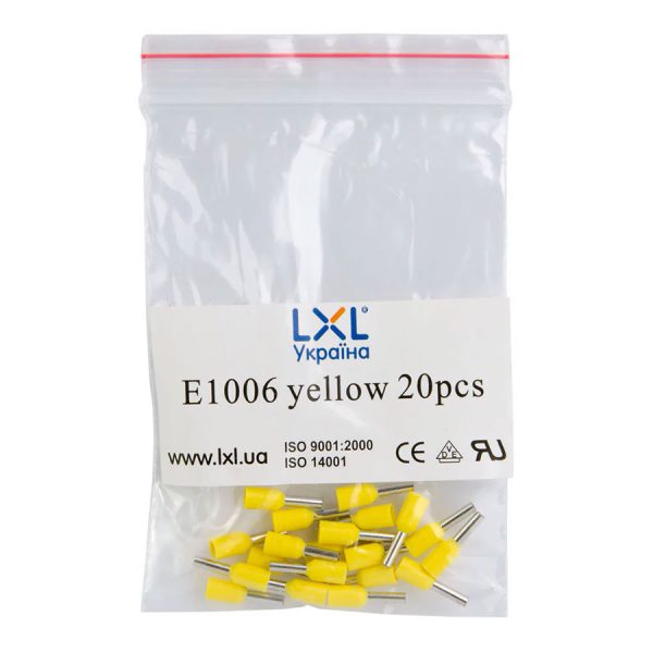 Ізол.наконеч.втулковий E1006  1,0кв.мм жовтий