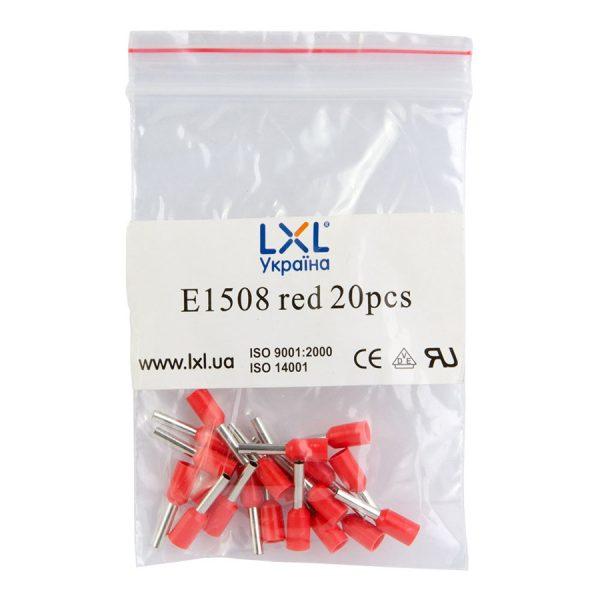 Ізол.наконеч.втулковий E1508  1,5кв.мм червоний