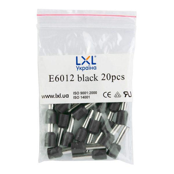 Ізол.наконеч.втулковий E6012  6,0кв.мм чорний