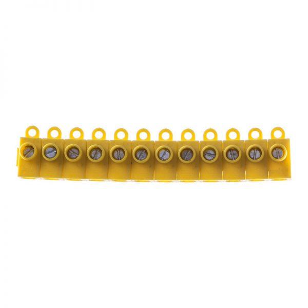 TBS-3×2.5 Клема набірна одногвинт. 3х2,5мм 50А жовтаТМ LXL