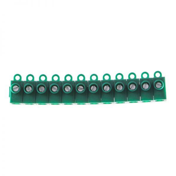 TBS-3×2.5 Клема набірна одногвинт. 3х2,5мм 50А зеленаТМ LXL