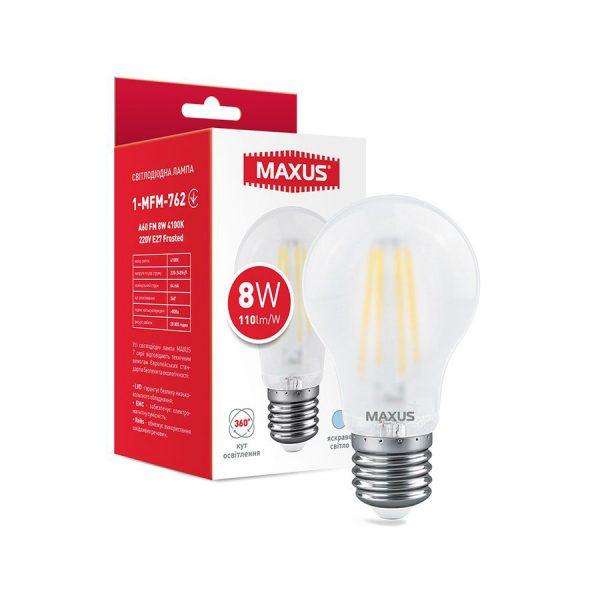 Лампа 1-MFM-762 A60 FM 8W 4100K 220V E27 Frosted