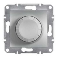 Світлорегулятор ASFORA 600ВА поворот. алюміній