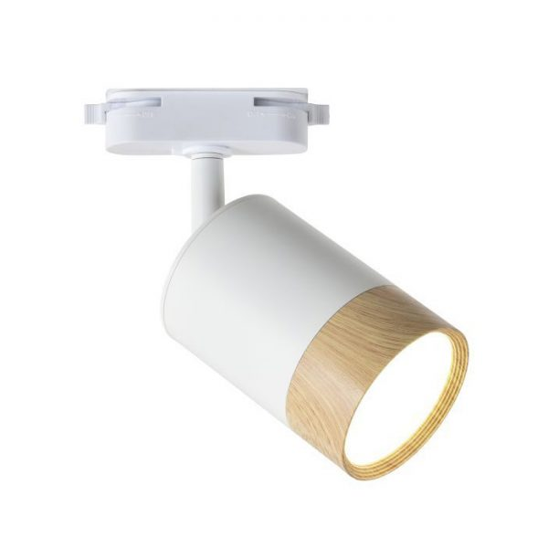 Св-к шинний LED TRL259 7W 230Lm 4000K білий+дерево