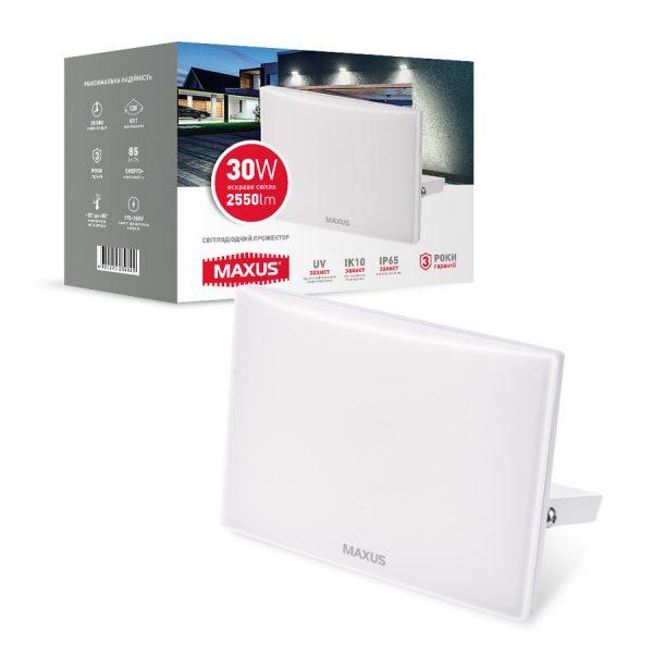 Прожектор LED MAXUS FL-03 30W, 5000K White