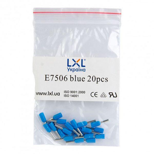 Ізол.наконеч.втулковий E7506  0,75кв.мм синій
