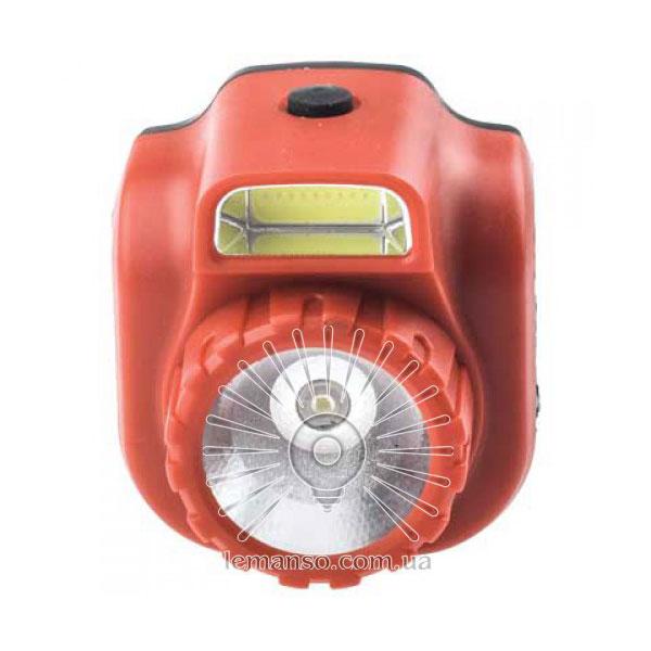 Ліхтарик COB+Lumen LED на голову пластик червоний/LMF48