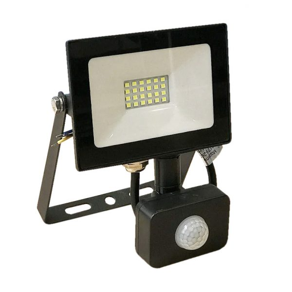 Прожектор LED 20w 6500K IP65 1600LM з датч.чорний/LMPS27