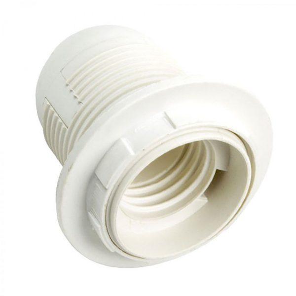 Патрон Е27 люстровий пластиковий+провід 40см біл. вел.