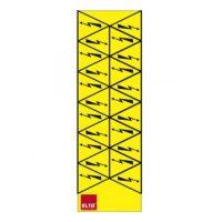 """Знак""""блискавка"""" в трикутнику 30х30х30  22шт. на листі (жовта)"""